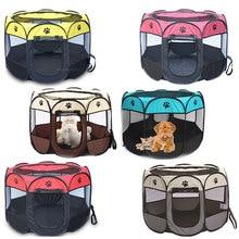 Pet Carrier Tent Portable Folding Dog House Playpen Cage