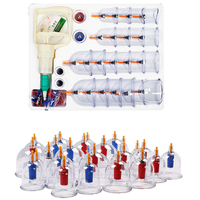 Hot Sale 24 Pec Silicone Massage Cupping Vacuum Cups Therapy Anti Cellulite Set Kit Traditional Cupping