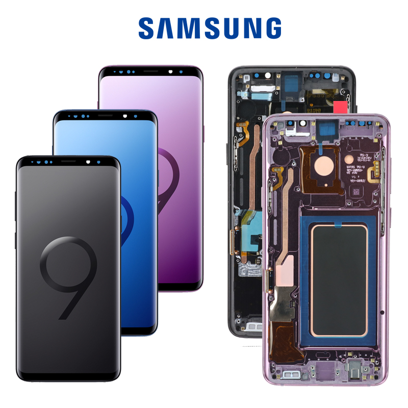 Original LCD For Samsung Galaxy S9 S9 Plus G965 G960 Burn in Shadow Lcd Display With
