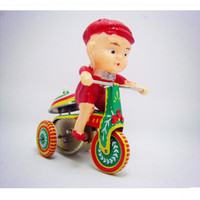 Tricycle Model Tin Wind Up Toys For Children Adults Mini Vintage Clockwork Toys Educational Toy 2
