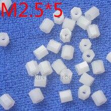 M2.5*5 1pcs White nylon Standoff Spacer Standard M2.5 Female-Female 5mm Kit Repair parts High Quality