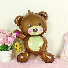 1 шт. мини прекрасный Медведь День Рождения шар Мультфильм игрушка шар украшение подарок для детской вечеринки