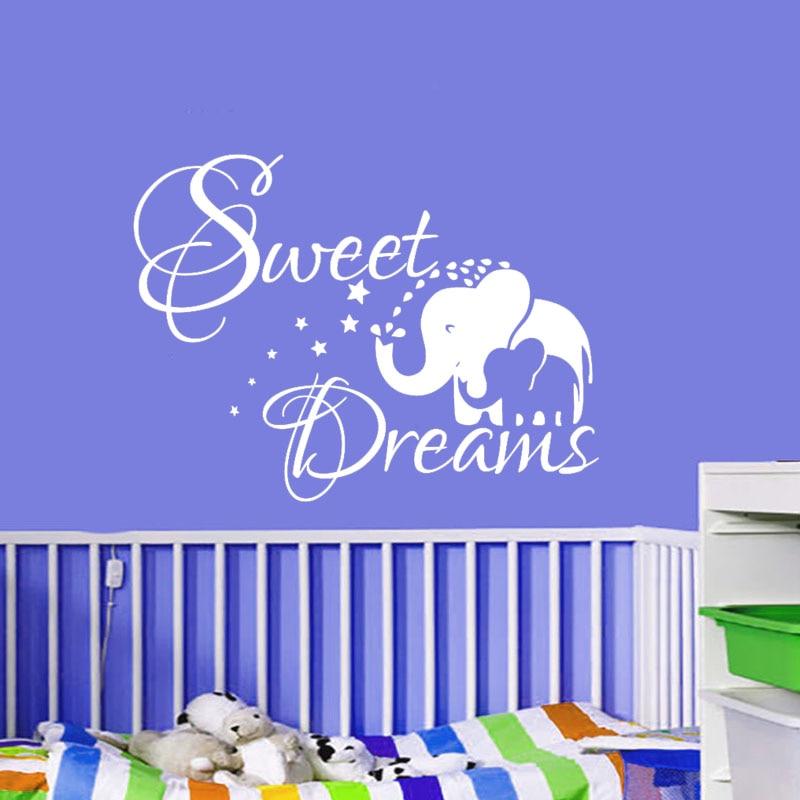 Sweet Dream Wandaufkleber Kinder Schlafzimmer Dekoration Elefant - Wohnkultur - Foto 2