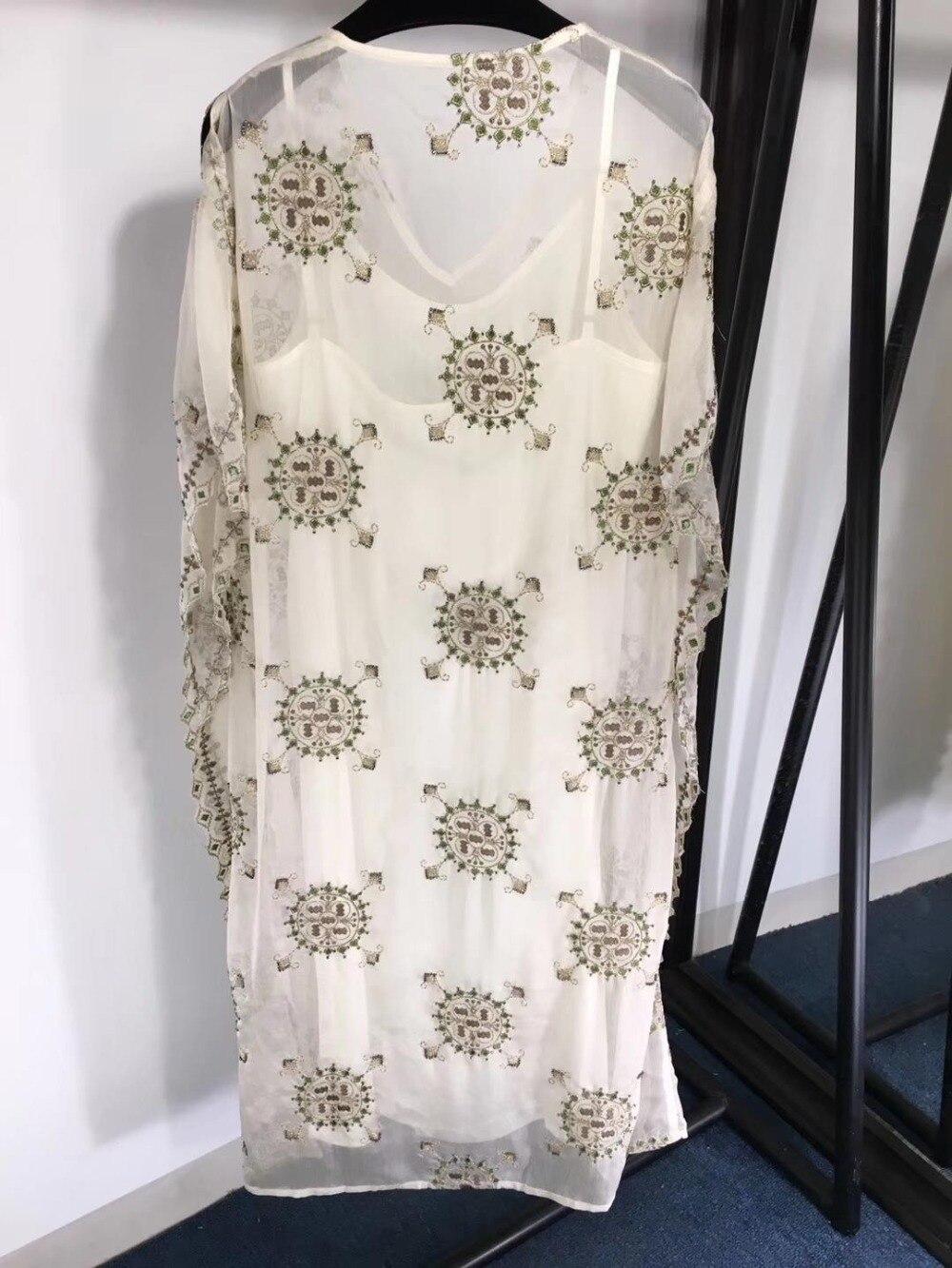 2019 Dames Nouveau Robe Blanc 0328 Mode De Imprimer VMpSUz