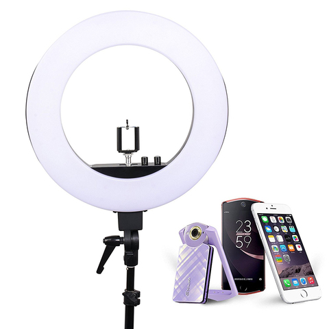Zomei 18' Dimmable Photographic Lighting Studio Video LED Ring Light 3200-5600K for Smart phone Makeup Live Youtube portrait Islamabad