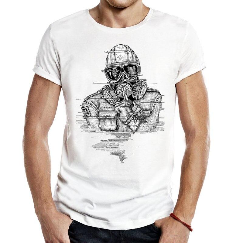 Men T Shirt Rainbow Six Siege Rainbow R6 Mark Chandar Tom Clancy Gaming Fps Elite Skin Ink Funny T Shirts Voue Tee Shirt Homme