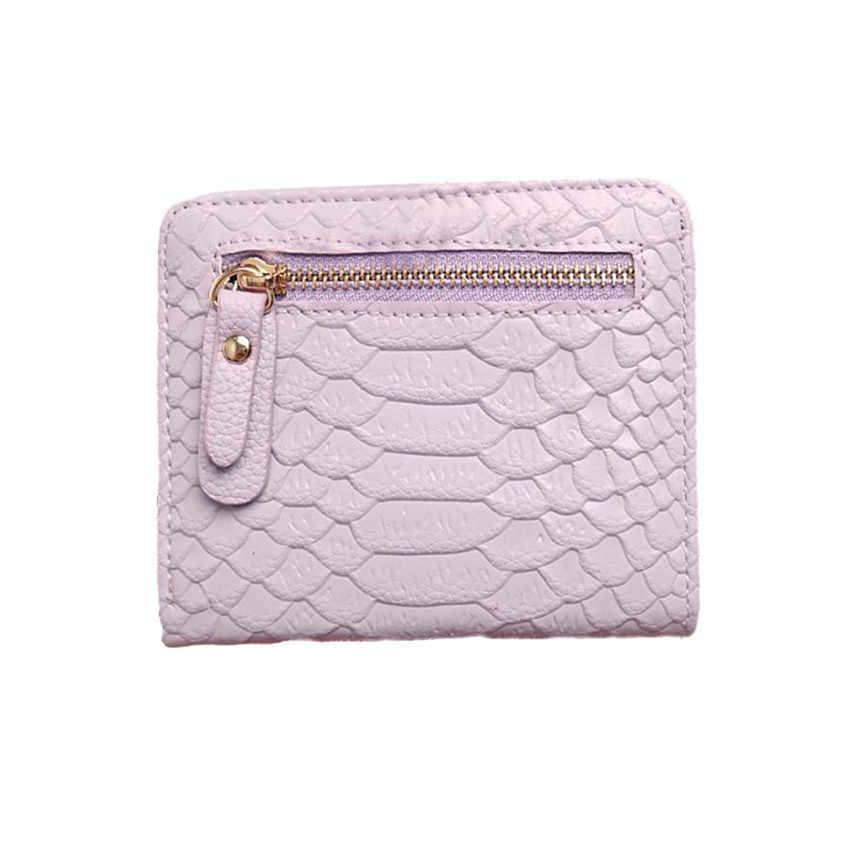 MOLAVE billeteras mujer de titular de la tarjeta de hasp mujeres cocodrilo corona largo monedero cartera tarjeta titular bolso Jun1