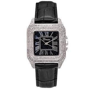 Image 5 - 2019 moda marka kadınlar kare bilezik saatler bayanlar en lüks deri kayış taklidi quartz saat yeni kadın Casual saat