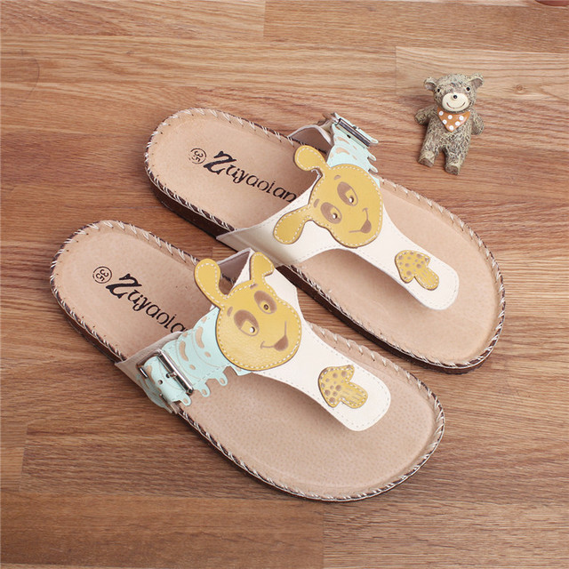 1c94fc9f98fb Sen female Japanese small fresh flat sandals slippers sweet summer female  college wind students shoes slippers