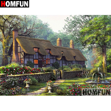HOMFUN 5D DIY Diamond Painting Full Square/Round Drill House scenery Embroidery Cross Stitch gift Home Decor Gift A08420 homfun 5d diy diamond painting full square round drill house scenery embroidery cross stitch gift home decor gift a08417