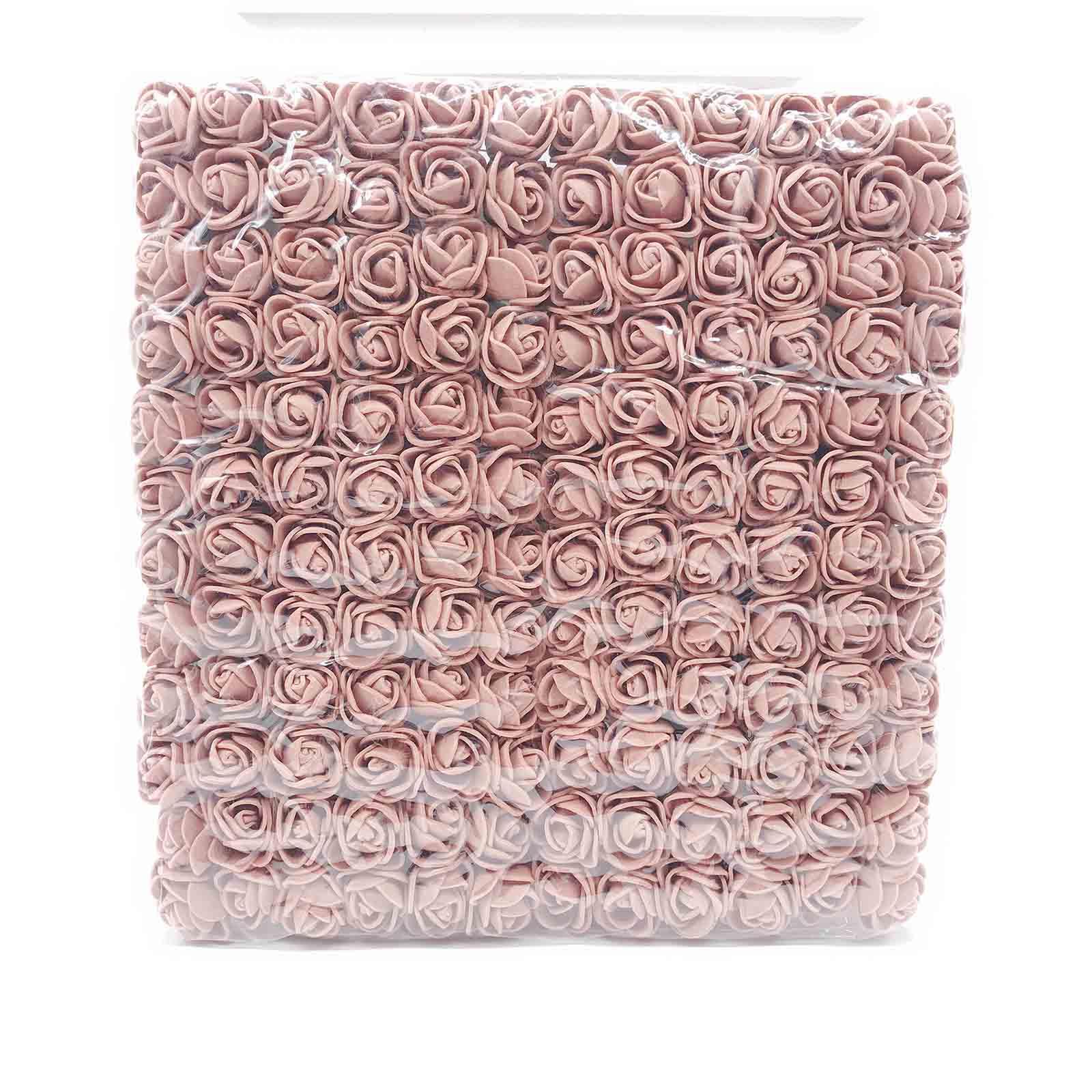 144 шт 2 см мини-розы из пенопласта для дома, свадьбы, искусственные цветы, декорация для скрапбукинга, сделай сам, венок, Подарочная коробка, дешевый искусственный цветок, букет - Цвет: 13