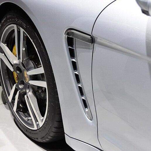 Ди 2 шт.! Автомобиль Интимные аксессуары для Panamera 970 DMC Стиль крыло вентиляционная решетка ремонт Стайлинг ABS Украшения прокладки уравновешив