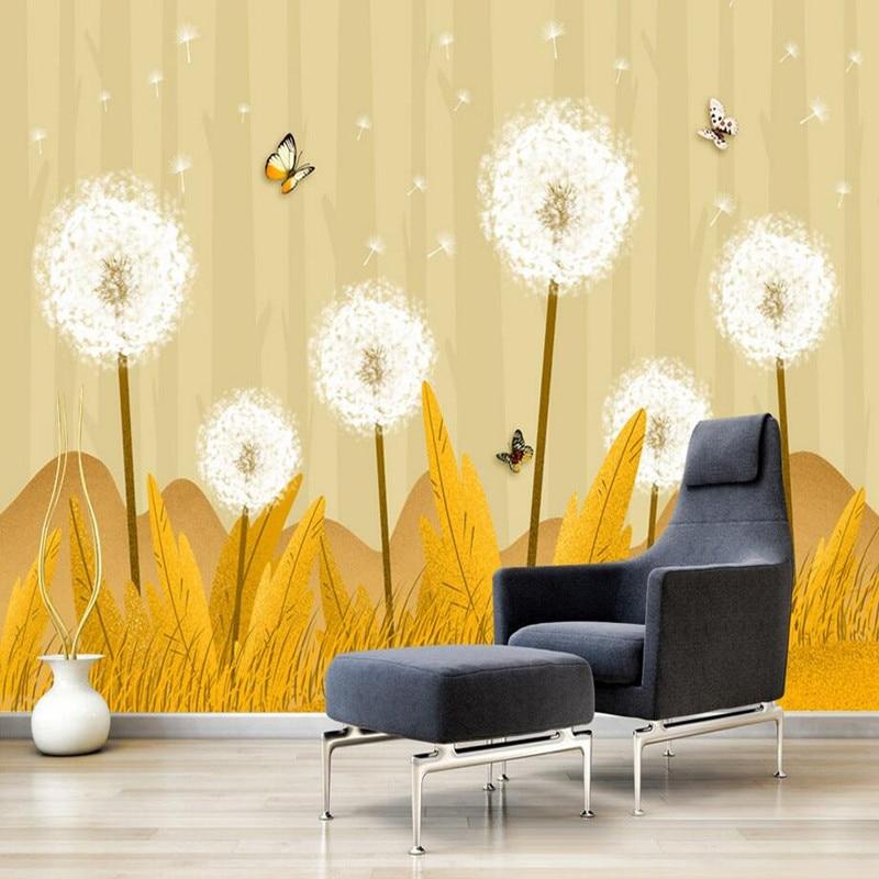 Custom 3D Wall Murals Wallpaper Modern Hand-painted Flower Living Room Bedroom TV Background Wallpaper Decorative 3D Wall Murals 3d wallpaper oversized photo frame tree cartoon kids room decorative wall stickers living room bedroom tv background room murals