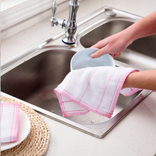 5PCS Cotton Gauze Cleaning Cloth Rag Absorbent Washing Windows Kitchen Towel Dishcloth Towels Multi-purpose
