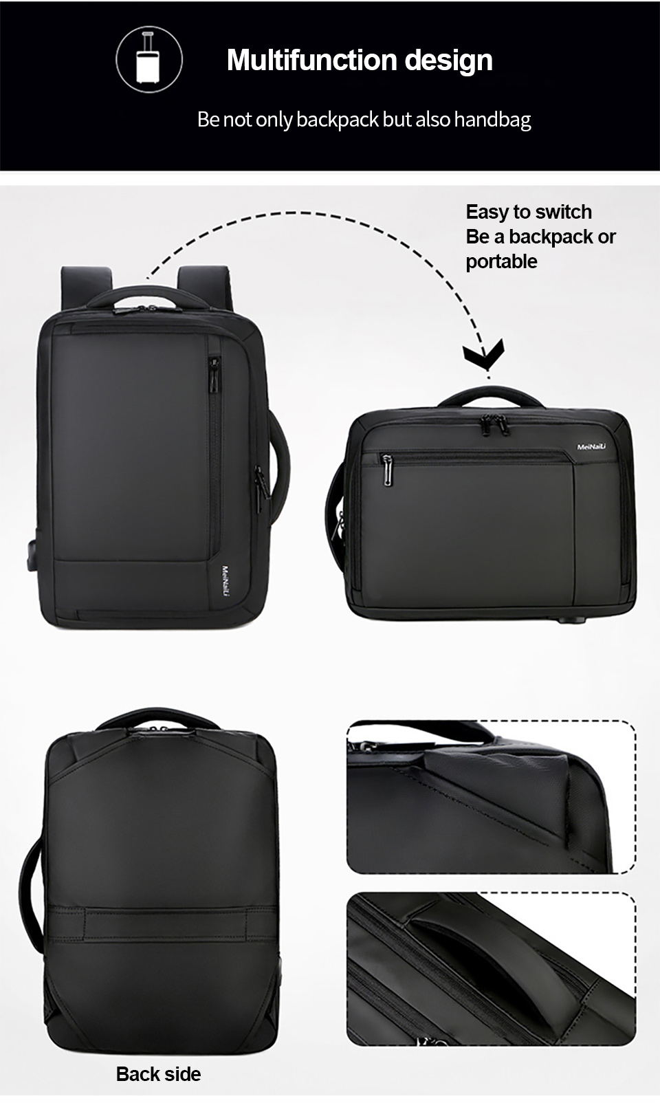 7 Multifunction USB Backpack Man Bag 15.6inch Laptop Backpacks Travel Bags Large Capacity Luggage Backpacking Waterproof Notebook
