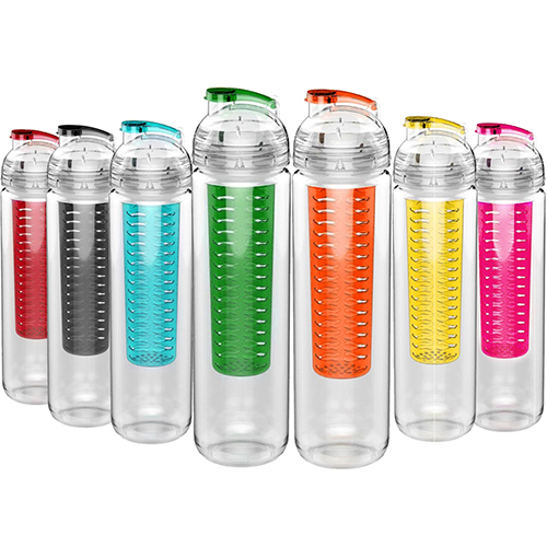 800ml Large Capacity Portable Convenient Sport Tritan Fruit Infuser Water Bottle