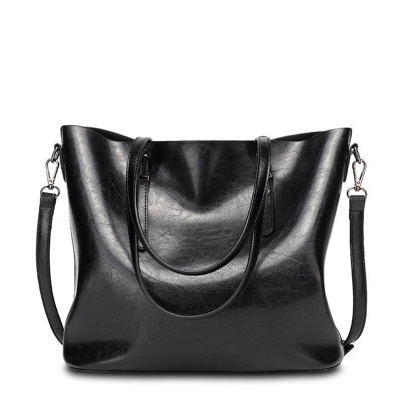 oil wax bucket women handbags Cowhide Leather shoulder bag women messenger bag clutch lady bag bolsa feminina  tote bag for girl