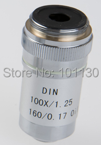100x 195 composite achromatic objective lens for phoenix biological microscope Ph50 ph100 with Metal Shell Optical Glass Lens  цены