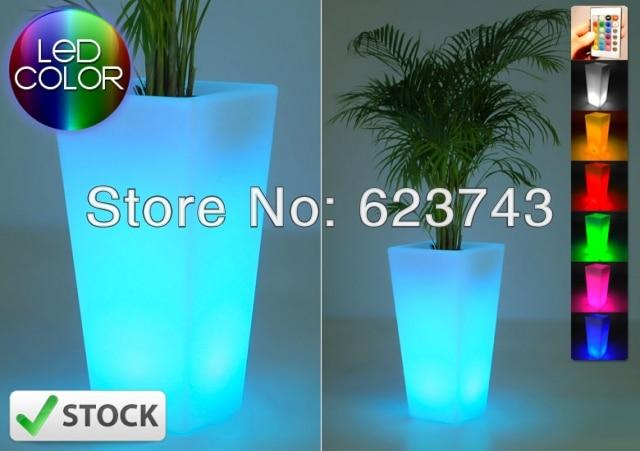 Free verzending gloeiende verlichting led bloempot! Remote kleur ...