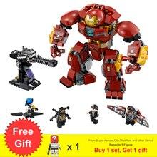 Супер Герои фильмы халкбастер Железного человека Mecha Smash-Up Mech набор строительных блоков игрушки для детей, подарки подходит легонесса Marvel 76104