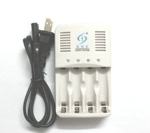 Free shipping 1.6V NiZn 1.2V NiMH AA AAA battery universal intelligent charger, with LED converter lamp