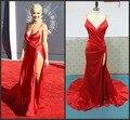 Реальный образец рита ора спагетти ловушки милая высокие щелевые красного линия открыть сексуальная знаменитости платья для особых случаев платья