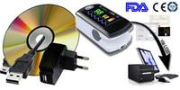 Bluetooth Беспроводной кончик пальца Пульсоксиметр насыщения крови кислородом монитор CMS50EW, USB SW, OLED Экран, CONTEC Oximetro
