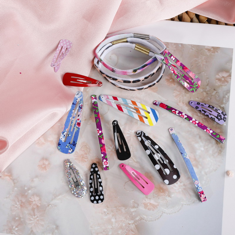 12PCS New Lovely Cartoon Heart Type Metal Candy Color Kids Headwear Children Accessories Baby BB Clips Girls Hairpins Hair Clip