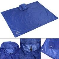 Multifunction Outdoor Climbing Cycling Rain Cover Triple Backpack Climbing Raincoat Poncho Waterproof Camping Tent Mat Canopy