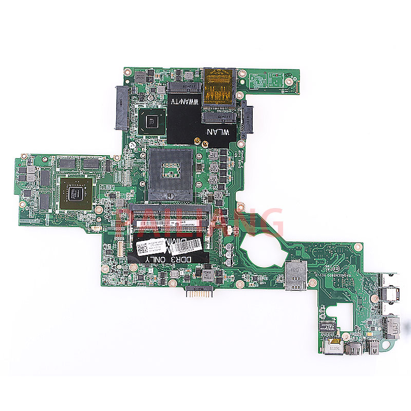 Laptop motherboard para DELL XPC L502X GT525M PC Laptop Mainboard CN-0C47NF 0C47NF DAGM6CMB8D0 completa tesed DDR2