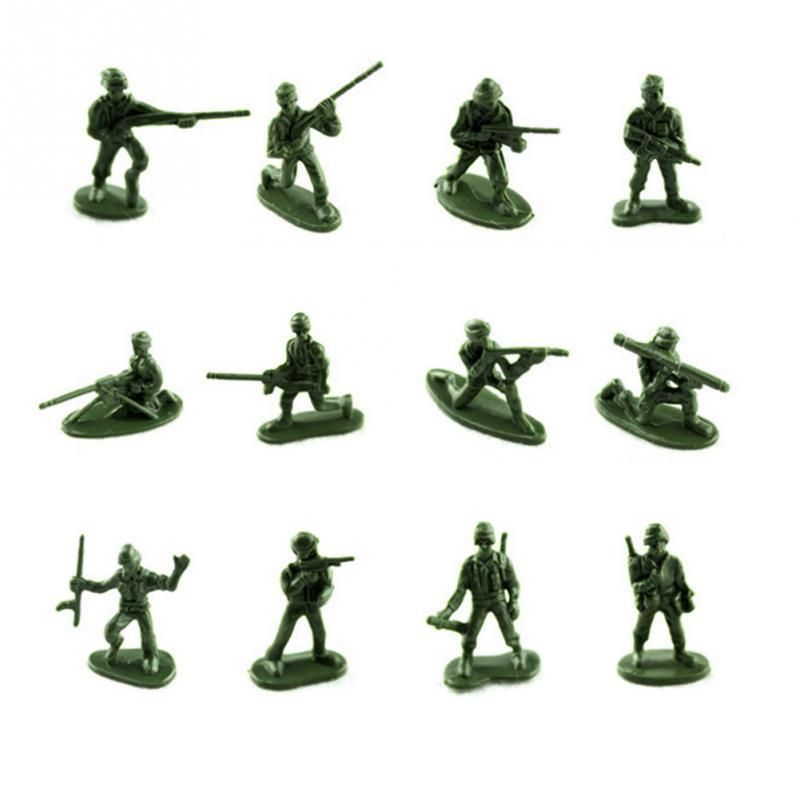 100pcs/set Military Plastic Toy Soldiers Army Men Figures 12 Poses Gift Toy Model Action Figure Toys