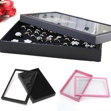 New 100 Slots Ring Jewelry Display Tray Show Case Organizer Box Storage Holder