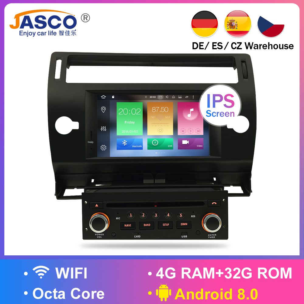 Android 8 0 Car DVD Player GPS Glonass Navi for Citroen C4 C Triomphe C Quatre