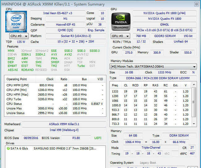 Original Intel Xeon QS Version processor E5 4627V3 2.6GHZ 10-Core E5-4627V3 25MB SmartCache E5 4627 V3 FCLGA2011-3 E5-4627 V3