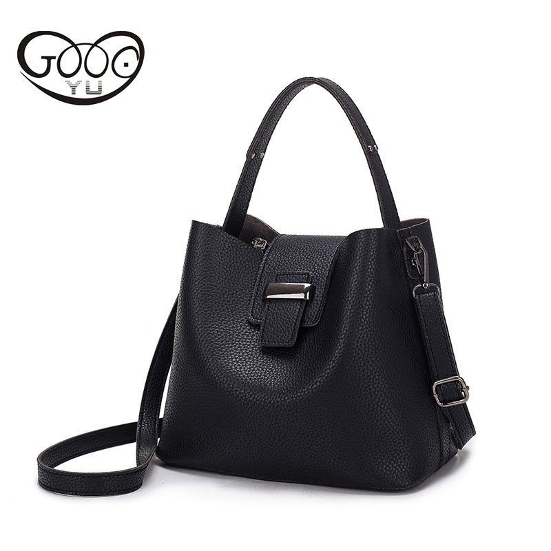 Korean version of the fashionable color of the new womens ultra-slim ladies oblique cross-package trend bucket type shoulder ba