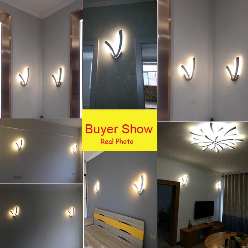 Modern 12W LED Wall Lamp For Bathroom Bedroom Wall Sconce White Indoor Lighting Lamp AC100-265V LED Wall Light Indoor Lighting
