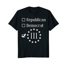 2019 Nieuwe Zomer Casual T-shirt Republikeinse Democraat 3 Percenter Voor Mannen En Vrouwen