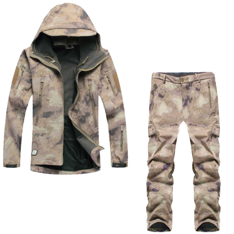 Camouflage military uniform, winter thermal fleece tactical clothes, U.s. army military clothing