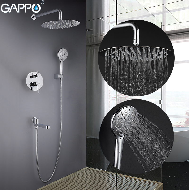 GAPPO shower faucets bathroom shower faucet set bath shower head mixer bathroom waterfall rain shower panel