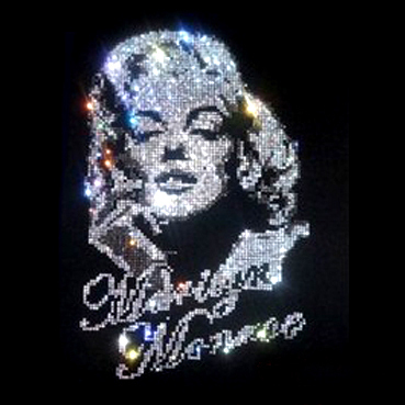Marilyn Monroe Hot Fix Strass Designs Eisen auf Transfer Eisen auf Transfer Motiv Eisen auf Kristall Transfer Design