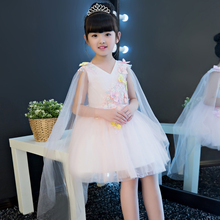 High Quality Cute Children Girls Flower Princess Lace Dress Kids Sweet Birthday Wedding Party Dress Gift
