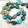 Natural Stone Chrysocolla Approx 14x16mm Oval Shape Loose Beads Approx 39cm DIY Jewelry Making Bracelet Necklace