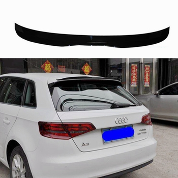 MD style High quality ABS material car spoiler tail piano black suitable for Audi A3 hatchback 4 door car 2014-2018