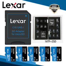 Lexar Geheugen Sd Card Adapter Micro Sd kaartlezer Tf Card Case 16 Gb 32 Gb 64 Gb 128 Gb 256 Gb 512 Gb A2 U3 C10 V30 633x Flash Card