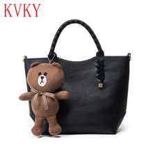 2016 Autumn Winter Vintage Fashion Women Leather Handbags High Quality Woman Casual Tote Bags Famous Brand Female Shoulder Bag