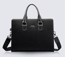 100% Cowhide men's business briefcase Genuine leather man vintage cross-body one shoulder computer bag Luxury leather bag