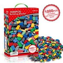 1000 шт. городские строительные блоки наборы Legoing DIY блоки конструктора друзья создатель часть Brinquedos образовательные игрушки для детей
