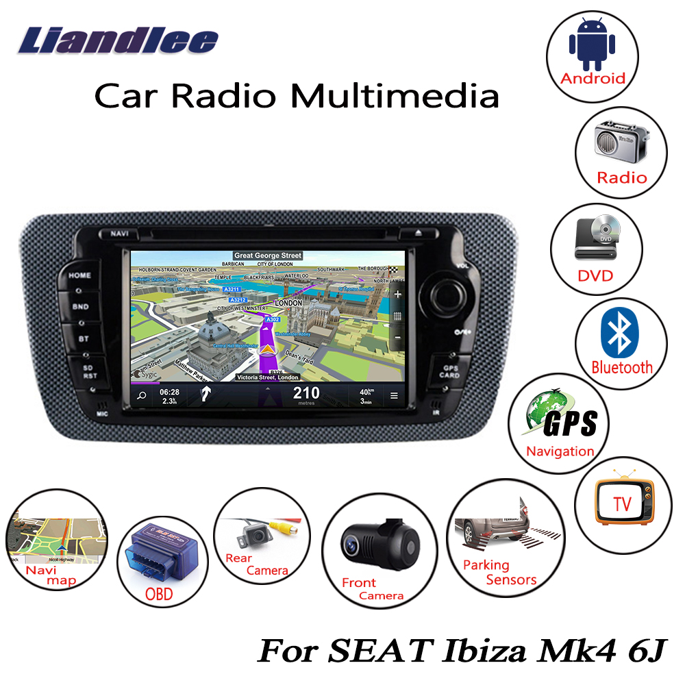 Liandlee For SEAT Ibiza Mk4 6J 2008 2017 Android Car Radio CD DVD Player GPS Navi