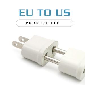 Image 4 - 1 Pc Us Adapter Plug Eu Us Reizen Muur Elektrische Power Lading Outlet Sockets 2 Pin Plug Socket Euro europa Naar De Vs