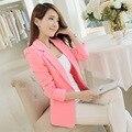 Women Blazers And Jackets Suit 2016 Spring Autumn Fashion Single Button Blaser Female White/Black/Pink/Blue Ladies Blazer Femme